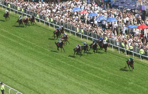 This aerial shot conveys the authority that Authorized imposed on the 2007 Derby