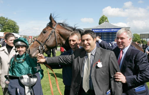 In the winner's enclosure after the Irish 2000 Guineas, 2006