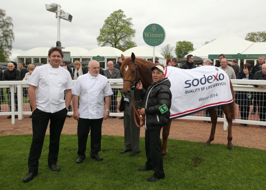 Celebrity chef James Martin and Steve Frost with Ayrad at Hamilton Park