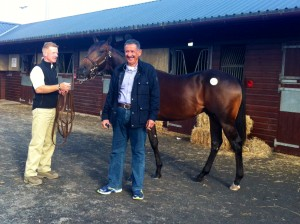 Hilario and Saleh Al Homaizi at the 2015 GoffsUK Premier Sale